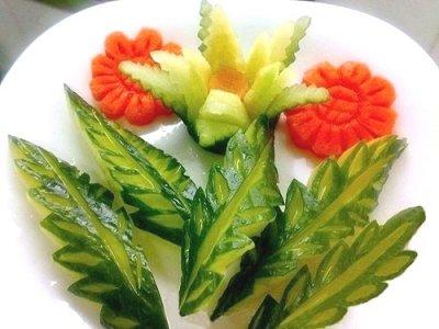 Для салатов с фото готового украшения