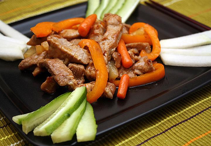 Приготовления свинины по китайски