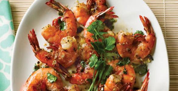 креветки жареные с чесноком рецепт с фото пошагово