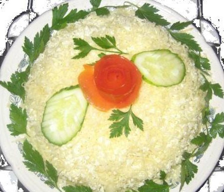 рецепты и фото салатов цветок