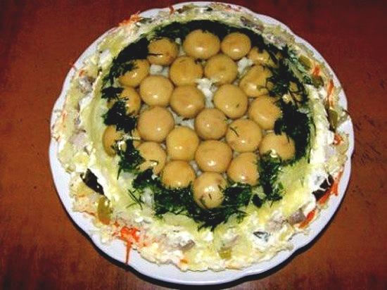 рецепты праздничных салатов с подсолнечным маслом
