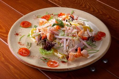 рецепты салатов из кальмаров с фото