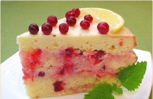 Торт лимонно клюквенный роман торты