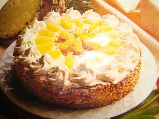 Манки с ананасами торты фото рецепты