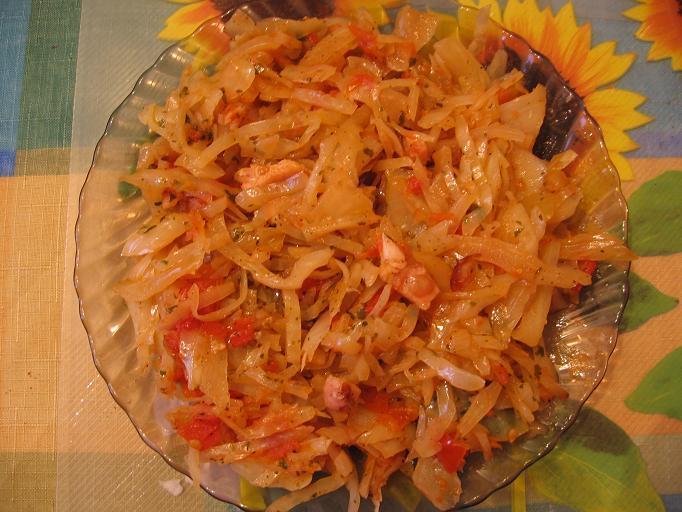 рецепт капуста тушеная с болгарским перцем