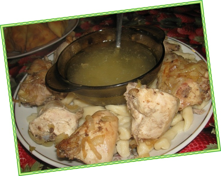Галушки чеченские с мясом рецепт